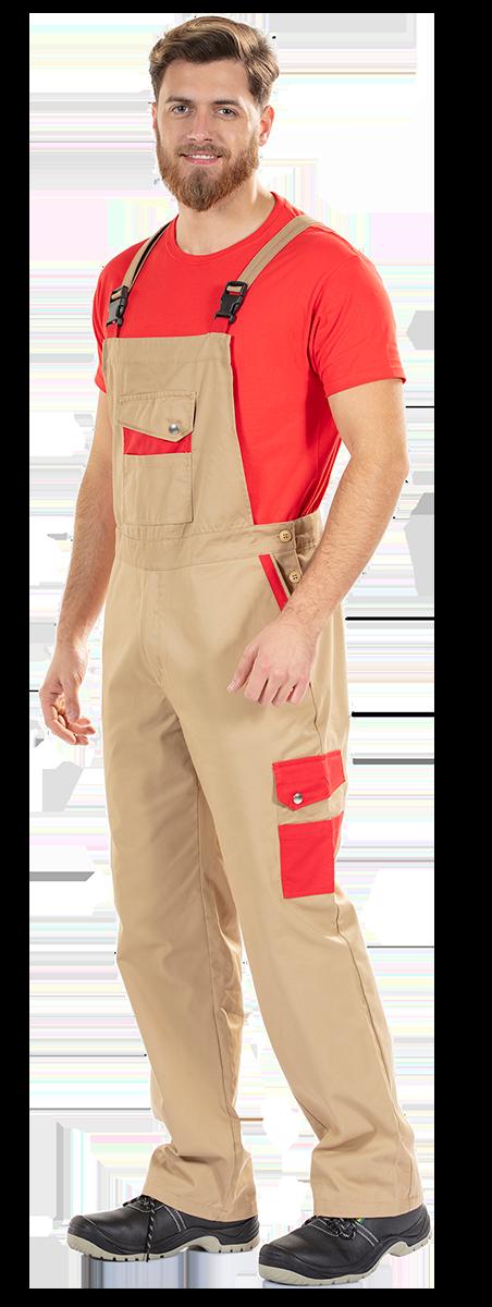 Jardineira para ser usada como vestuário profissional