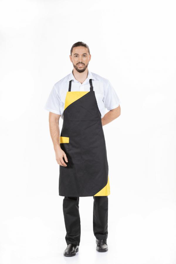 Avental de Homem na cor preta para uniforme de trabalho