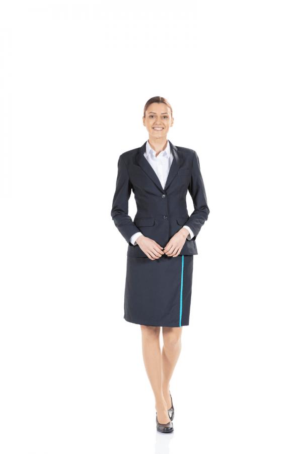 Blazer feminino para uniforme de trabalho