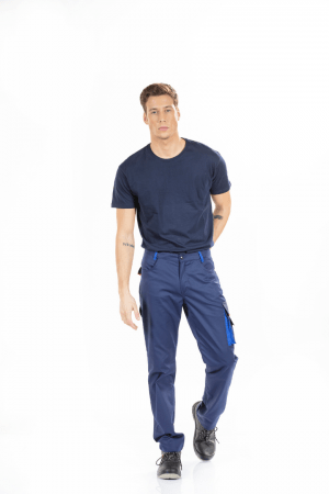MEN'S CLASSIC MULTI-POCKET WORK TROUSERS.