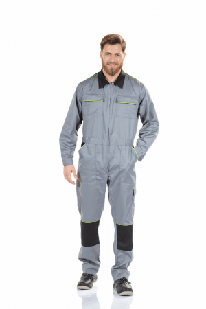 MEN'S MULTI-POCKET WORK COVERALL WITH KNEE REINFORCEMENT