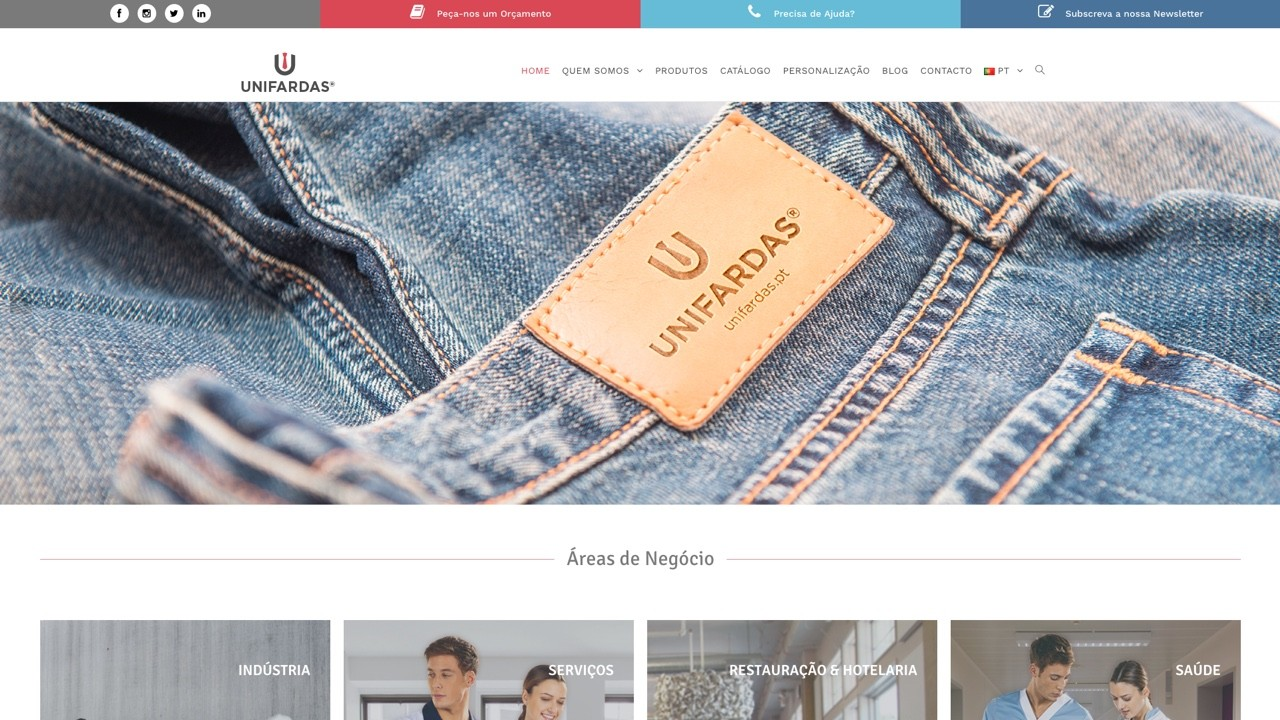 Website da Unifardas