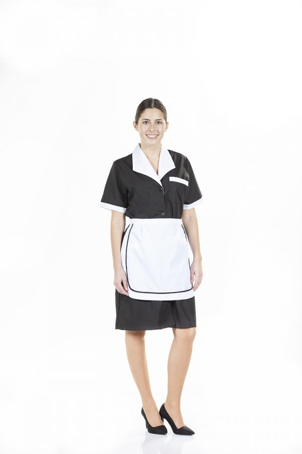 Senhora com avental branca para Uniforme de Trabalho