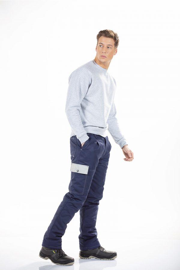 Calça acolchoada masculina para farda de trabalho