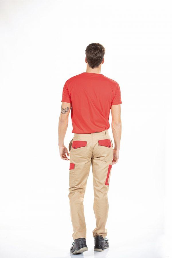 Calça multibolsos masculina de trabalho