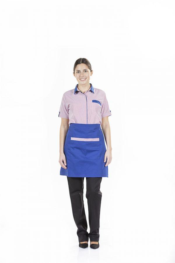 Camisas de senhora às riscas para uniforme de trabalho