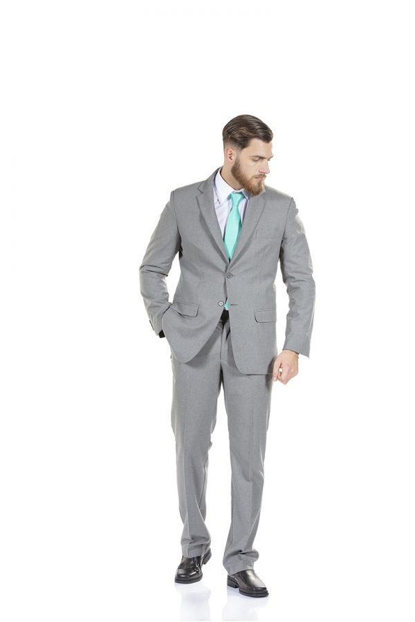 Homem com blazer de cor cinza para Uniforme profissional