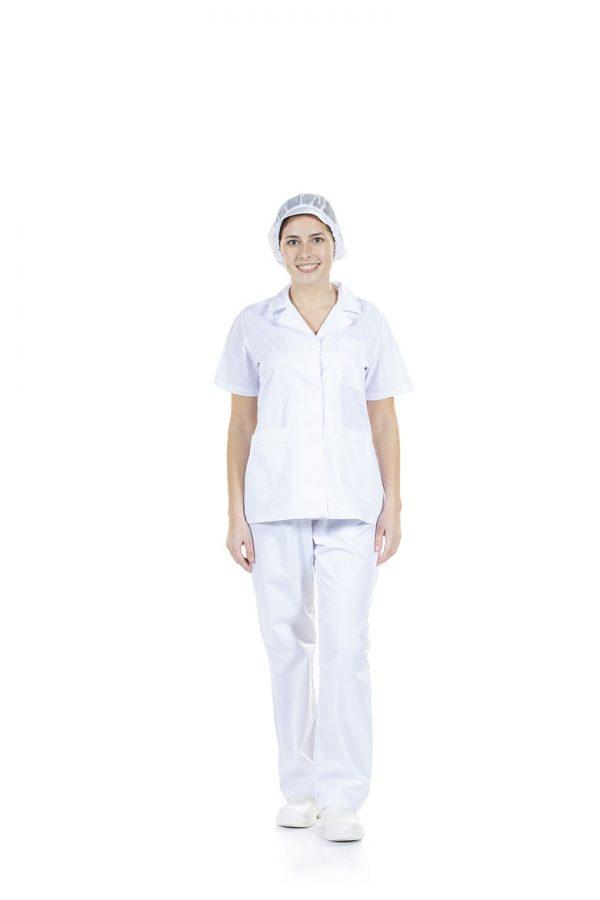Casaco branco de senhora para farda de trabalho