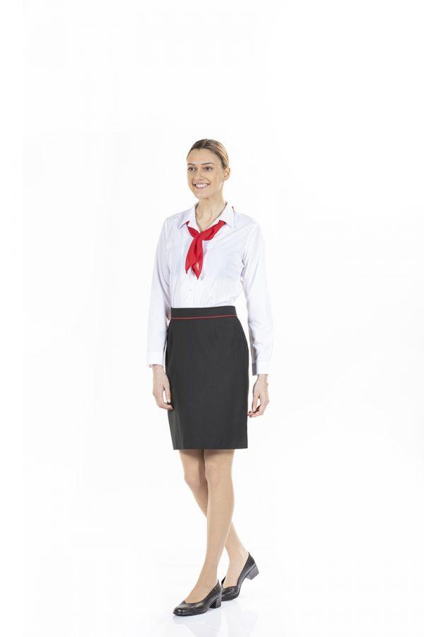 Saia de senhora na cor preta para uniforme profissional