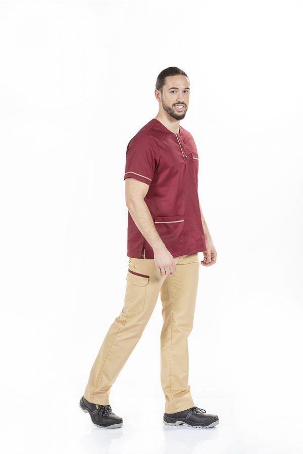 unifardas vestuario profissional workwear tunica homem unisexo bordeaux bege