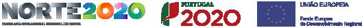 Logotipos do projeto de internacionalização portugal 2020