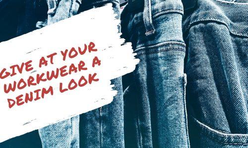 Create a Denim look through denim workwear