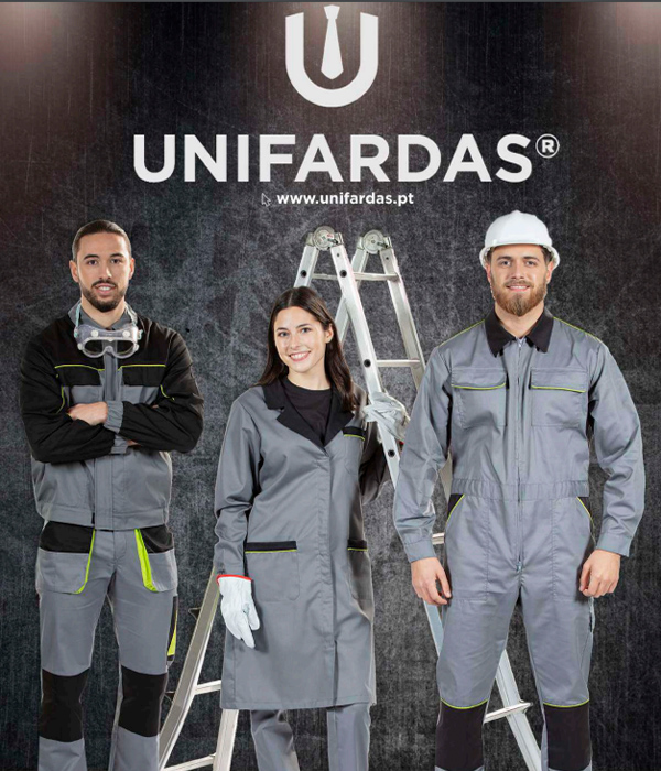 Capa do catálogo geral de fardas fabricadas pela Unifardas