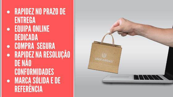 Compras online na loja de vestuário hopitalar da Unifardas