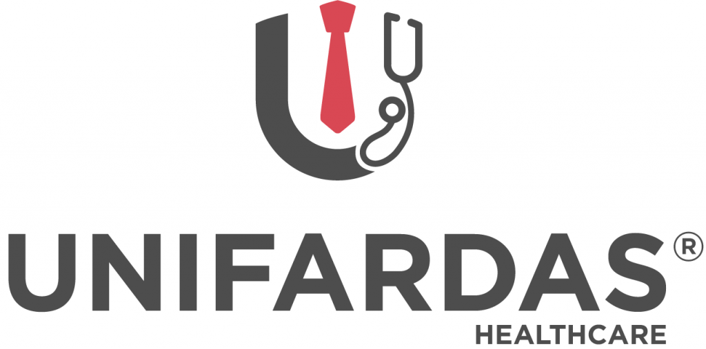 Logótipo da Unifardas healthcare para uniforme de trabalho