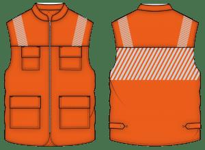 Colete de trabalho de alta visibilidade para uniformes personalizados