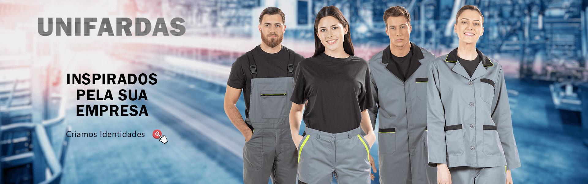 Fardas de trabalho da indústria produzidas pela Unifardas