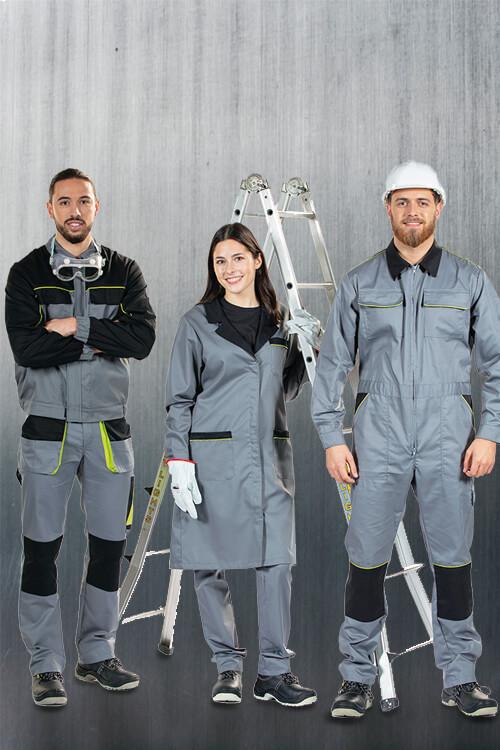 Trabalhadores a utilizarem fardas de trabalho da Unifardas