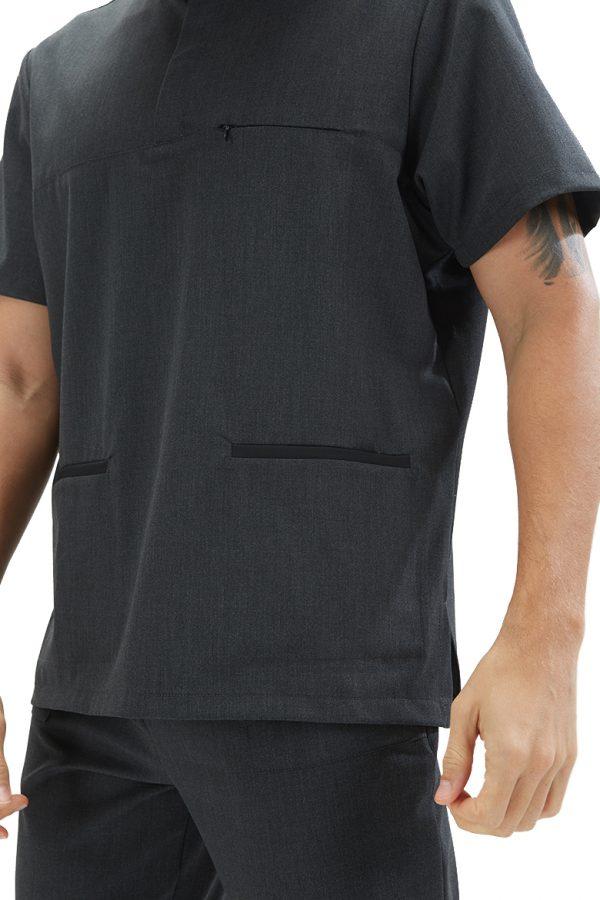 Detalhes da túnica de farda de enfermagem da marca hisi collection