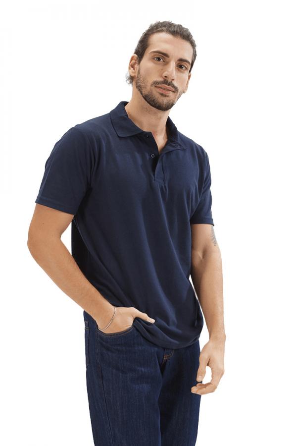 Polo de homem na cor azul marinho para farda de trabalho