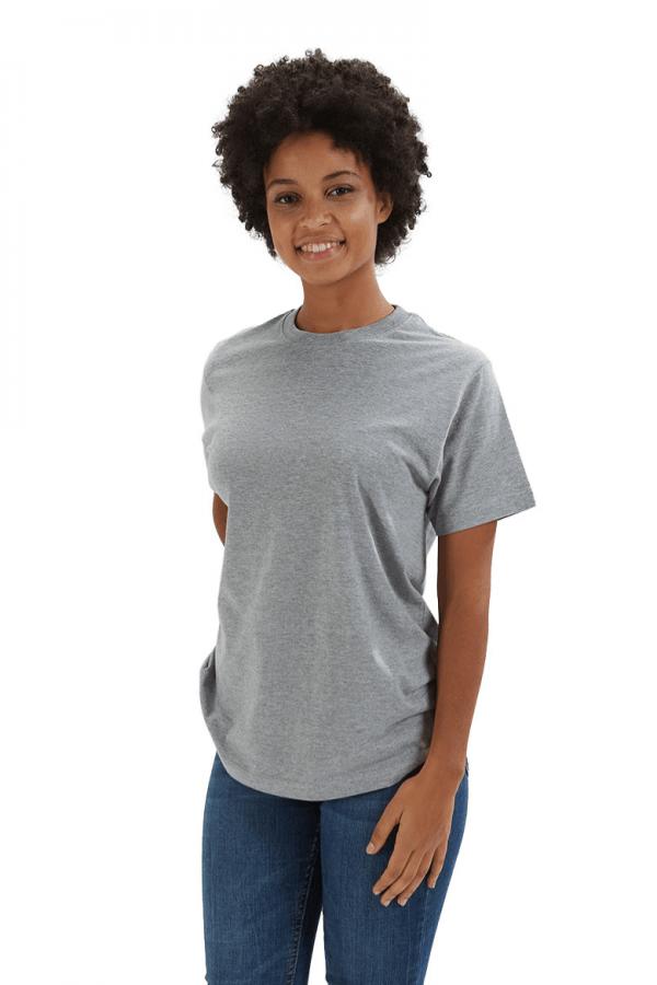 T-shirt de mulher na cor cinza para Uniforme profissional