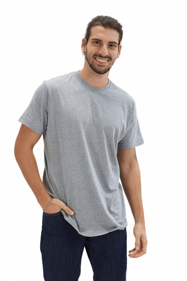T-shirt para homem na cor cinza fabricada pela Unifardas