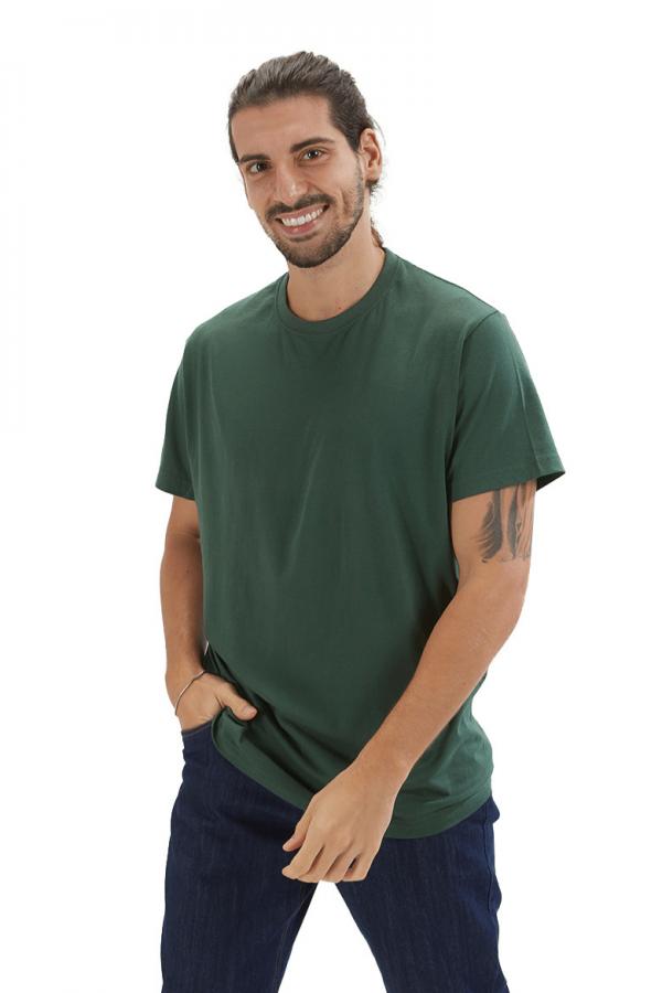 T-shirt para homem na cor verde para roupa de trabalho