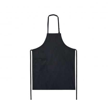 Avental Preto de cozinha fabricar pela Unifardas para ser usado como uma dos Aventais Personalizados