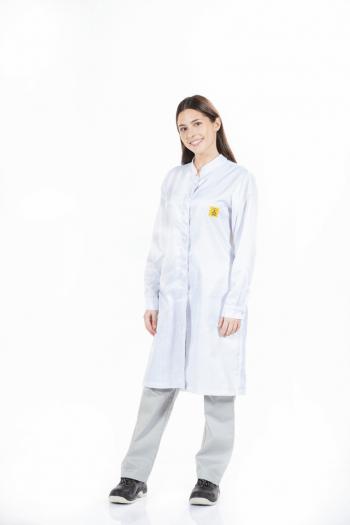 Bata antiestática para fardas de trabalho femininas da Unifardas